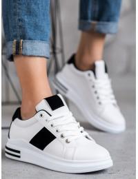 Baltos spalvos stilingi laisvalaikio stiliaus batai - AB5746W/B