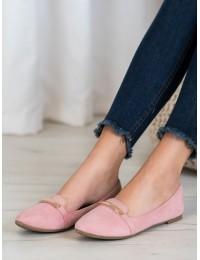 Elegantiški rožiniai romantiško stiliaus bateliai - JC07P
