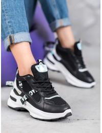 Madingi sneakers batai su užrašais - AB5672B
