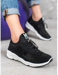 Juodi laisvalaikio batai su kristalais - 142B