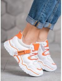 Stilingi oranžiniai sneakers batai - FF-8OR