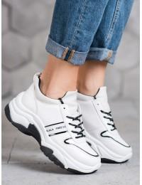 Sportinio stiliaus balti laisvalaikio batai - BO-189W