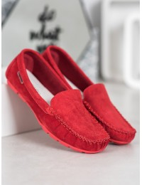 Natūralios odos raudoni stilingi patogūs mokasinai - OCA20-2166R