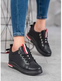 Juodi stilingi batai su platforma - XF823-57B