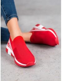 Raudonos spalvos laisvalaikio stiliaus aukštos kokybės batai - J113R