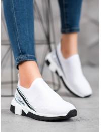 Baltos spalvos laisvalaikio stiliaus aukštos kokybės batai - J113W