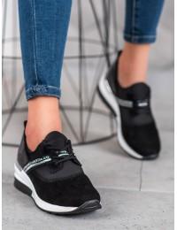 Stilingi juodi natūralios odos laisvalaikio stiliaus batai - DP1388/20B