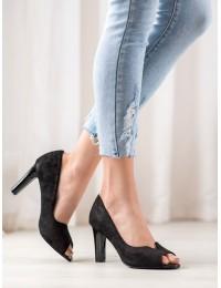 Elegantiški juodos spalvos aukštakulniai - YQE20-17055B