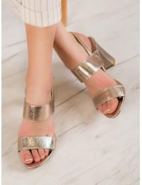 Stilingos puošnios elegantiškos aukštakulnės basutės - FL142B-GO