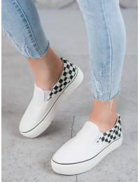 Balti SLIP ON stiliaus batai su platforma - R-440W