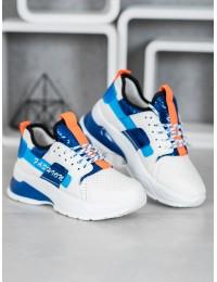 Balti stilingi sportinio stiliaus bateliai - AJ54BL