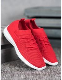Raudonos spalvos elastingi laisvalaikio bateliai - 7753R