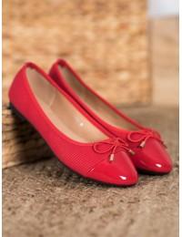 Elegantiški raudonos spalvos bateliai - B2021R