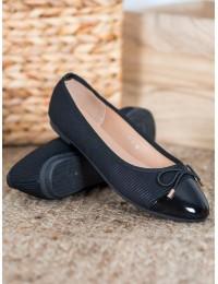 Elegantiški juodos spalvos bateliai - B2021B
