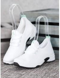 Baltos spalvos sportiniai/ laisvalaikio bateliai - K2019901BLA