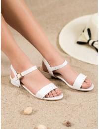 Baltos spalvos elegantiškos basutės - S1729W