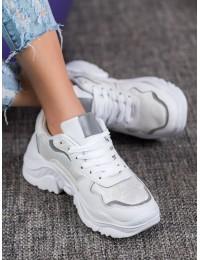 Baltos spalvos madingi batai - C913W