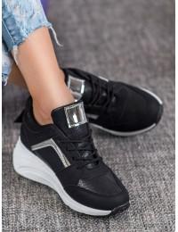 Juodi aukštos kokybės batai su platforma - YL-33B