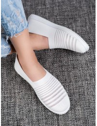 Balti stilingi SLIP ON stiliaus patogūs lengvi bateliai - Z241W