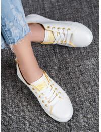 Balti visuomet stilingi laisvalaikio stiliaus bateliai - LX-9859W/Y
