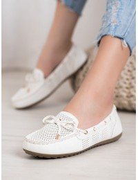 Klasikinio stiliaus baltos spalvos mokasinai - 2020-1W
