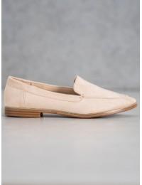 Stilingi minimalistinio stiliaus aukštos kokybės zomšiniai batai - T359BE