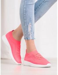 Neoninės rožinės spalvos ryškūs sportiniai bateliai - 7765Y-RO