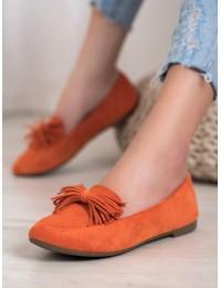 Stilingi nuotaikingos oranžinės spalvos bateliai - 99-72OR