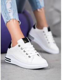 Balti stilingi odiniai laisvalaikio bateliai - BO-550W/B