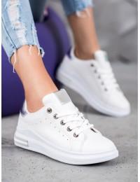 Balti stilingi odiniai laisvalaikio bateliai - BO-550W/S