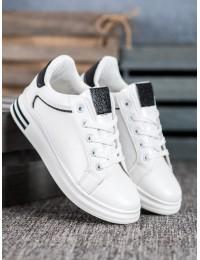 Balti stilingi odiniai laisvalaikio bateliai - LDH901W/B
