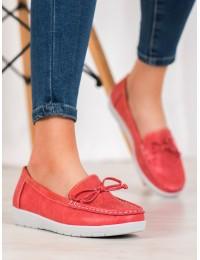 Klasikinio stiliaus raudoni mokasinai - 6063R