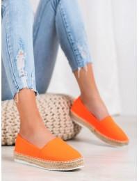 Ryškios apelsino spalvos medžiaginiai bateliai - X563OR
