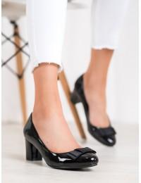 Elegantiški lakuotos odos juodi bateliai - XQ726B