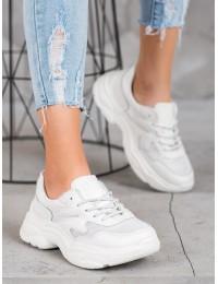 Madingi natūralios baltos odos sportinio stiliaus batai - DP1410/20W