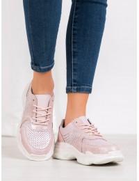 Sportinio stiliaus rausvi natūralios odos batai - DP1426/20P