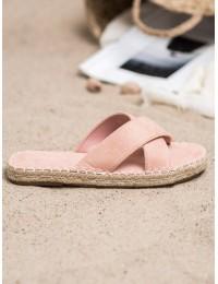 Stilingos zomšinės rožinės spalvos šlepetės - 708P