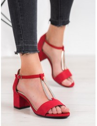 Elegantiškos raudonos spalvos basutės - GD-FL1027R