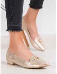 Elegantiški aukso spalvos bateliai - GD-FL616A-GO