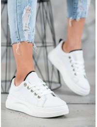 Madingi aukštos kokybės balti batai su platforma - LLQ203W/B