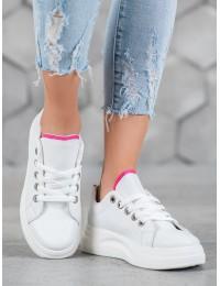 Madingi aukštos kokybės balti batai su platforma - LLQ203W/PE
