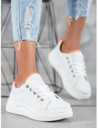 Madingi aukštos kokybės balti batai su platforma - LLQ203W/OR
