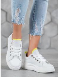 Madingi aukštos kokybės balti batai su platforma - LLQ203W/GR