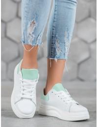 Madingi aukštos kokybės balti batai su platforma - LLQ204W/BL