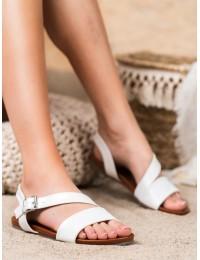 Klasikinės stilingos baltos spalvos basutės - K1951602BLA