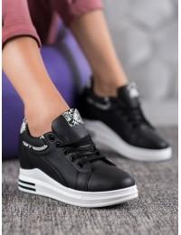 Juodi madingi batai su platforma - HY-231B