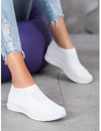 Balti stilingi lengvi SLIP ON stiliaus bateliai - ROYD9840-12W