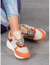 Aukštos kokybės batai SNEAKERS SNAKE PRINT  - YL-37OR