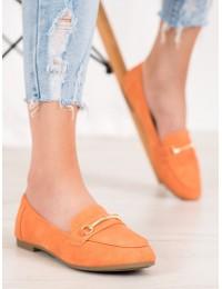 Elegantiški apelsinų spalvos bateliai - 99-06A-OR