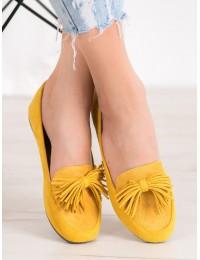 Stilingi nuotaikingos geltonos spalvos bateliai\n - 99-72Y